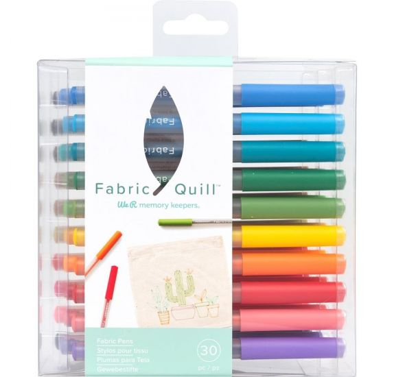 Lot de 30 stylos pour tissu Fabric Quill 'We R Memory Keepers'