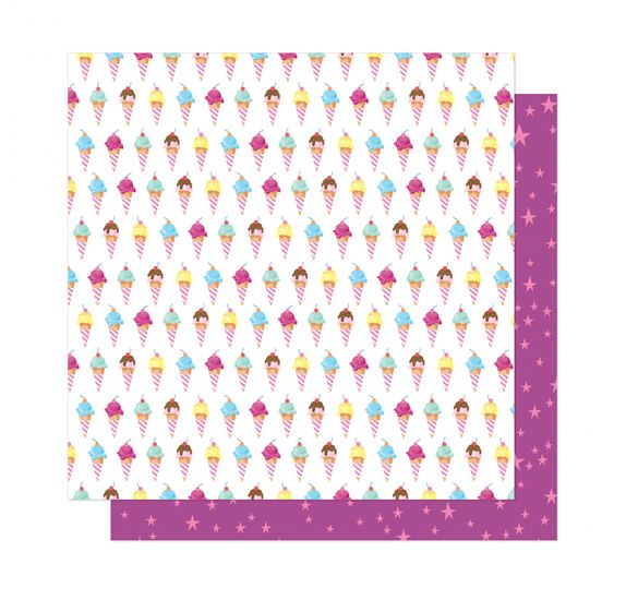 Papier double 30x30 'American Crafts - Here and Now' Sweet Summer