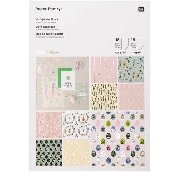 Assortiment A4 'Rico Design' Happy Springtime  30 papiers