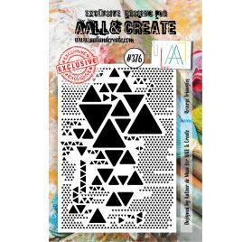 Tampon transparent 'AALL and Create' Reverse Triangles 376