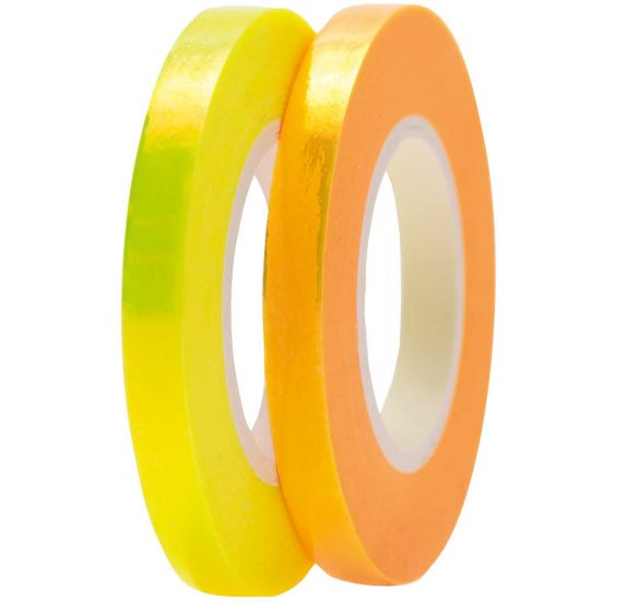 Lot de 2 Masking Tape 'Rico Design - Paper Poetry' Jaune/Orange 0.5 cm x 10 m