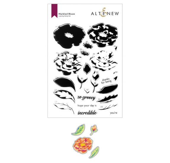 Combo Dies / Tampons transparents 'Altenew' Marbled Bloom