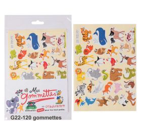 120 Gommettes 'Gribouill'Art' Animaux