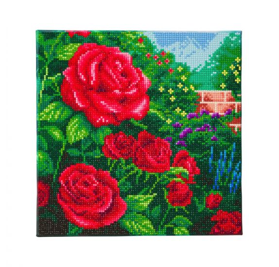 Kit Tableau Diamond Painting 30x30 cm 'Crystal Art' A Perfect Red Rose