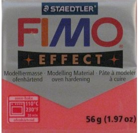 Pâte Fimo - Effect -  56g - Rouge transparent