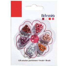 Mini attaches parisiennes - Artemio - Rouge - Qté 120