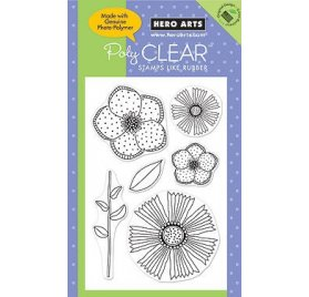 Tampons transparents - Hero Arts - Big and small flowers