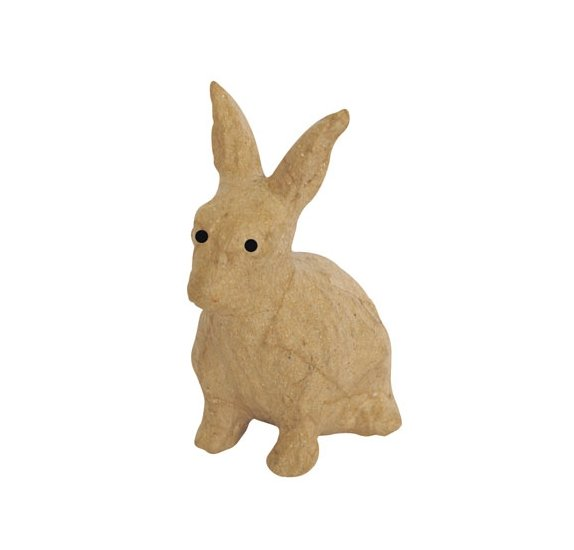 Lapin Assis - Decopatch - 18 cm