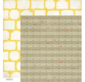 Papier double 30x30 - Crate Paper - Growth Chart