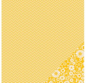 Papier double 30x30 - Pebbles - Chevron Jaune