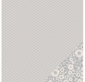 Papier double 30x30 - Pebbles - Chevron Gris