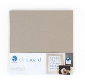 25 Pages Chipboard - Craft Robo Silhouette - 30 x 30 cm